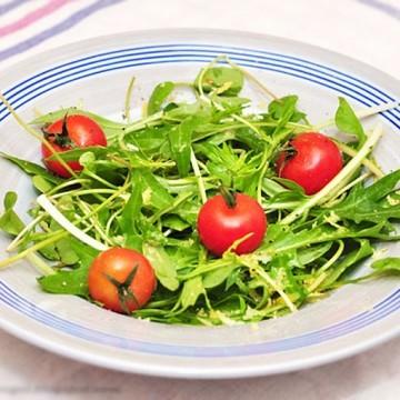 Rezept Minzuna-Postelein Salat mit Zitronendressig