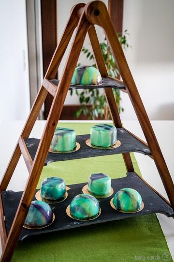 Rezept Mirror Glaze Cakes -> Mousse-Törtchen mit Spiegelglasur