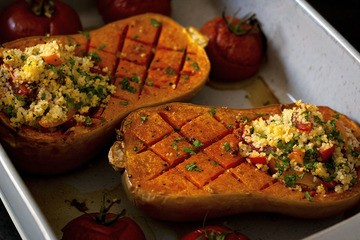 Rezept Mit Couscous gefüllter Kürbis aus dem Ofen