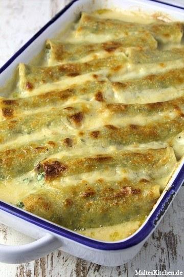 Rezept Mit Spinat-Ricotta-Mascarpone gefüllte Cannelloni