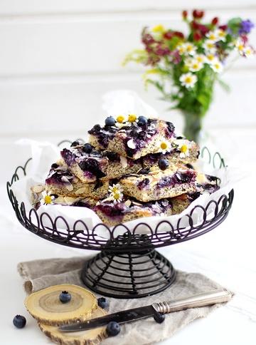 Rezept Mohn-Butterkuchen mit Blaubeeren und selbstgemahlenem Mehl
