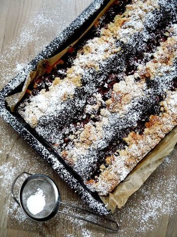 Rezept Mohn-Kirsch-Streuselkuchen
