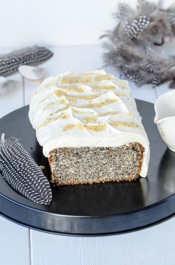 Rezept Mohnkuchen mit Eierlikör-Creme