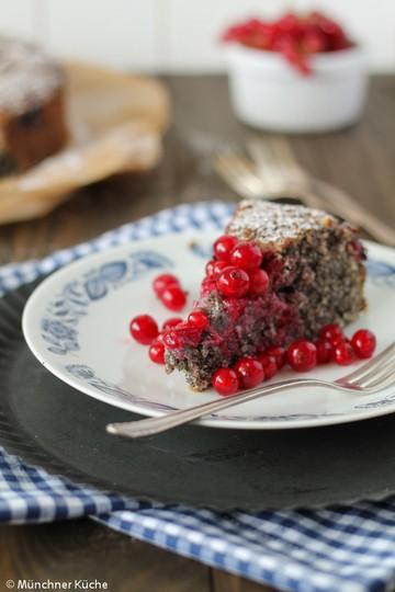 Rezept Mohnkuchen mit Johannisbeeren