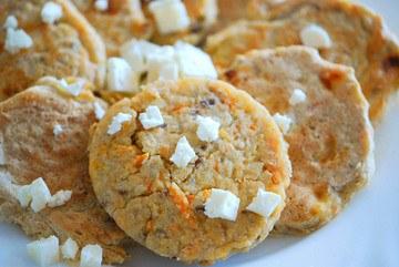Rezept Möhren-Feta Pancakes