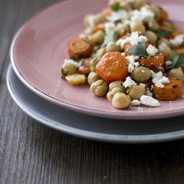 Rezept Möhren-Kichererbsen-Salat mit Petersilie und Feta
