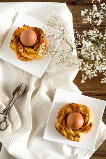 Rezept Möhren-Marzipan-Kränze als Eierbecher