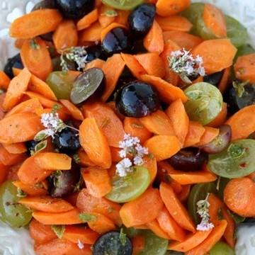 Rezept Möhrensalat mit Trauben