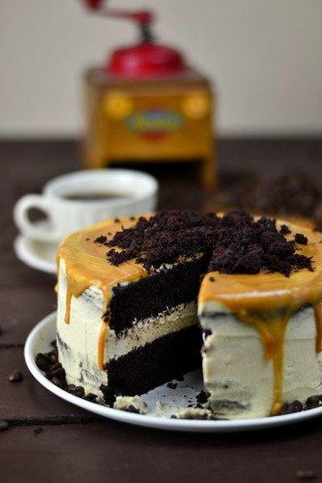 Rezept Mokka Kuchen mit Karamellsauce