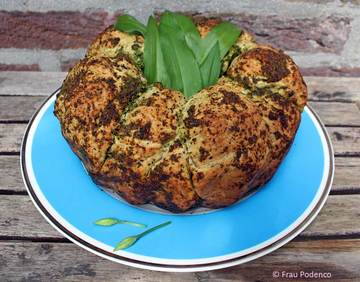 Rezept Monkeys bread mit Bärlauch