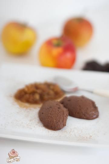 Rezept Mousse au Chocolat mit Bratapfelkompott