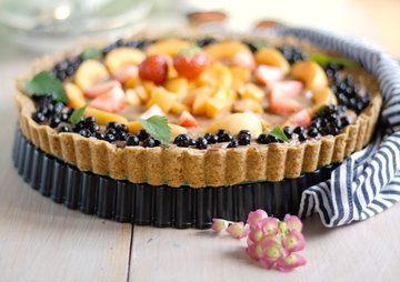Rezept Mousse au Chocolat Tarte mit Früchten und Minze