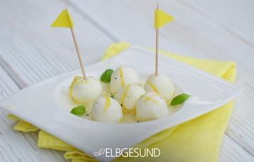 Rezept Mozzarella raffiniert mariniert – Honig und Zitrone geben einen verblüffend leckeren Geschmack