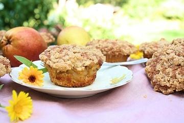 Rezept Muffins mit Birnenkompott