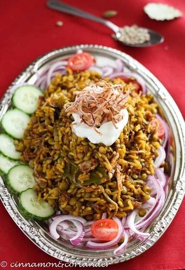 Rezept Mujaddara - Libanesisches Linsen Reis Gericht ( Vegan)