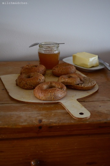 Rezept Multigrain Sourdough Bagels