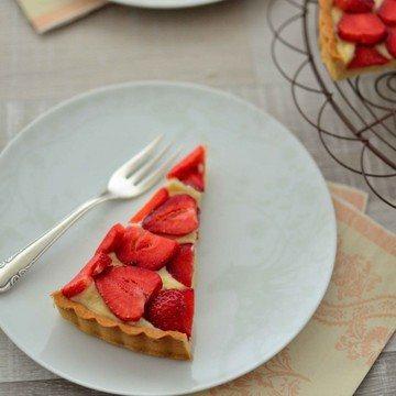 Rezept mürbe Erdbeer-Vanille-Tarte
