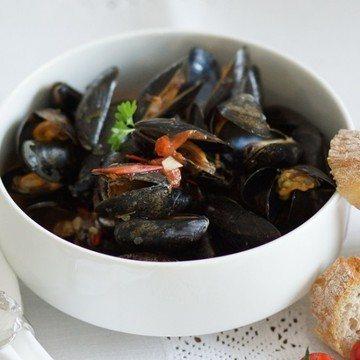 Rezept Muscheln in Weißweinsauce