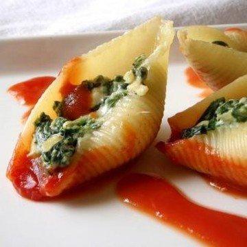Rezept Muschelnudeln gefüllt mit Spinat und Ricotta