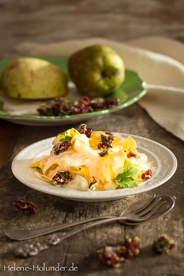 Rezept Nachgekocht: Salat aus Kürbis und Pastinake mit Canberra-Krokant, natürlich vegan!