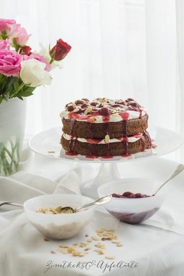 Rezept Naked-Cake im Schwarzwälder-Style