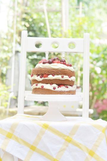 Rezept Naked Cake mit Beeren