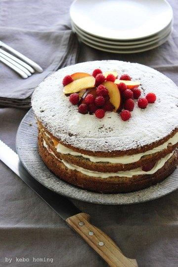 Rezept Naked Cake oder eine Mohnkuchentorte
