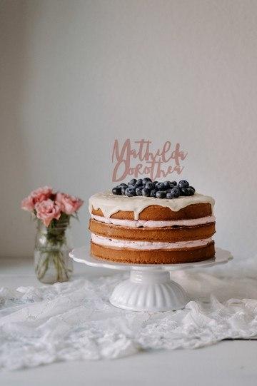 """Rezept """"NAKED-DRIP-CAKE"""" MIT ZITRONE UND BLAUBEEREN"""