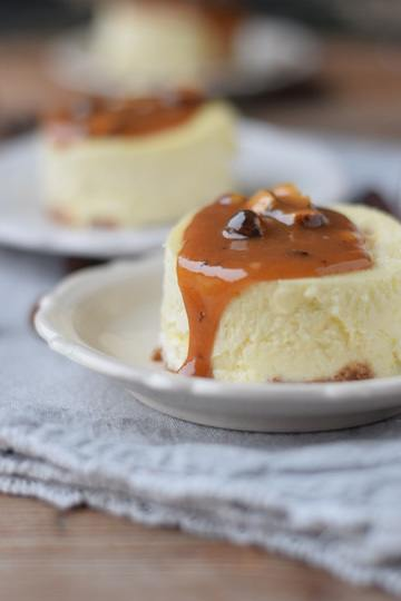 Rezept New York Cheesecake mit Haselnuss Karamell