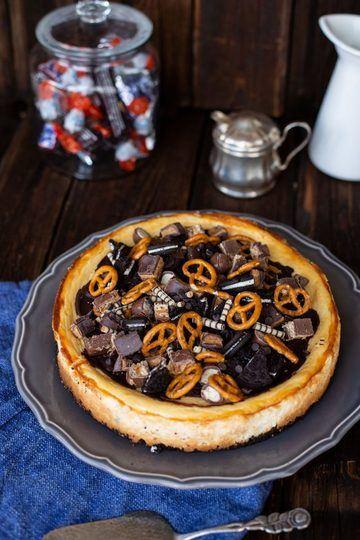 Rezept New York Cheesecake Rezept mit Oreo Keksboden & Karamell Topping