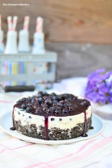Rezept No-Bake Blaubeer Joghurt Törtchen