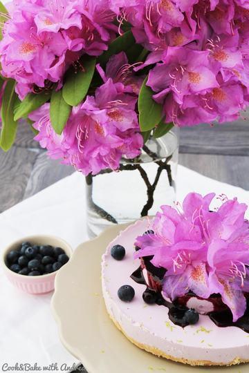 Rezept No Bake Blueberry Cheesecake