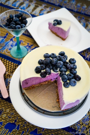 Rezept No Bake Blueberry Cheesecake
