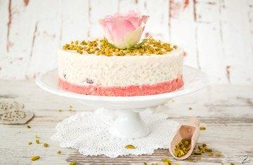 Rezept No Bake Cake: Milchreis Törtchen mit Rosenwasser