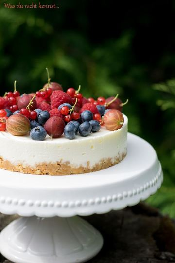 Rezept No-Bake Cheesecake mit Beeren