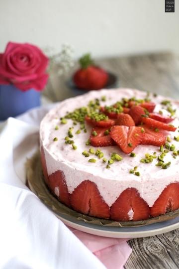Rezept No Bake Erdbeer-Joghurt-Torte
