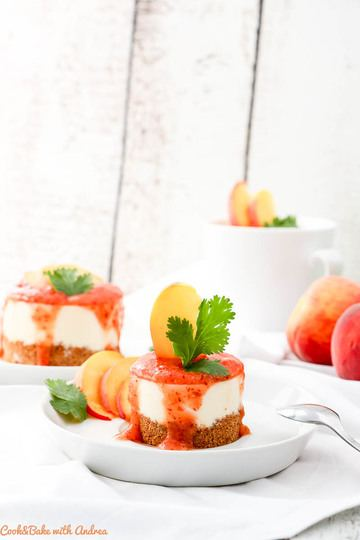 Rezept No Bake Schoko-Quark-Törtchen mit Pfirsich