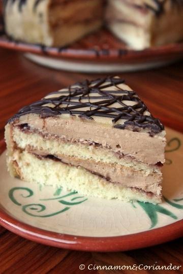Rezept Nougat Creme Torte mit Marzipandecke