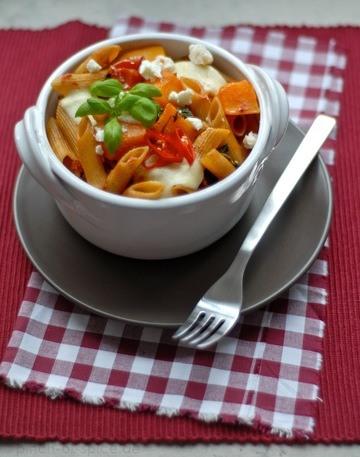 Rezept Nudelauflauf mit Kürbis, Tomaten und Ricotta
