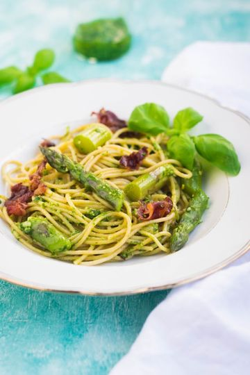 Rezept Nudeln mit grünem Spargel
