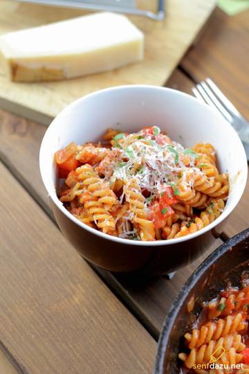 Rezept Nudeln mit Paprika Sauce