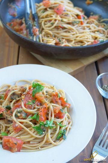 Rezept Nudeln Tomaten Pfanne