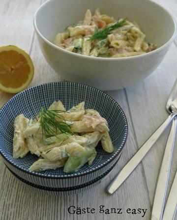 Rezept Nudelsalat mit Lachs und Zitrone