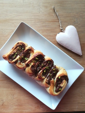 Rezept Nuss-Nougat-Schokoladen (Oster)Brot
