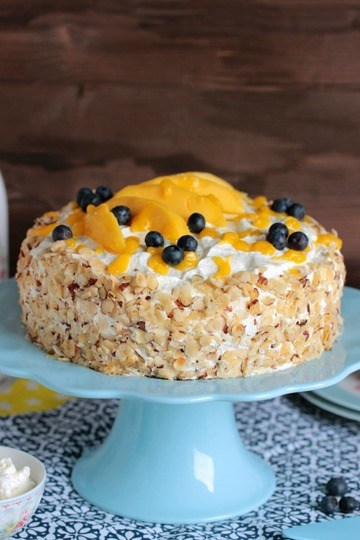 Rezept Nuss-Pudding-Torte mit Mango (glutenfrei)