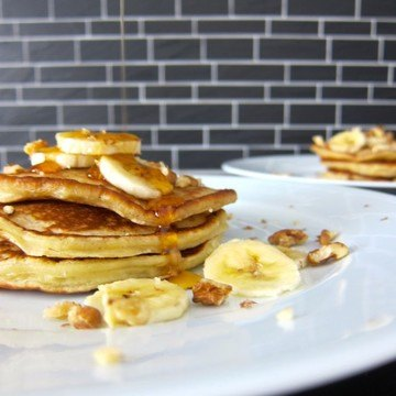 Rezept Nussige Bananen Pancakes