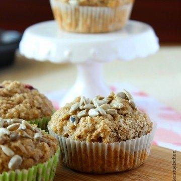 Rezept Nussige Muffins mit Sonnenblumenkernen und Haferkleie