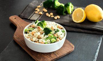 Rezept Nussiger Reis-Salat mit Brokkoli & Kichererbsen