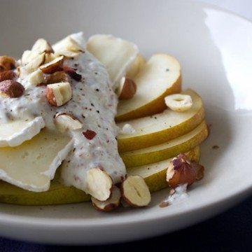 Rezept Nussjoghurt auf Camembert und Birne