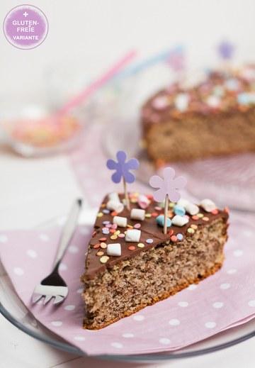 Rezept Nusskuchen mit Schokolade